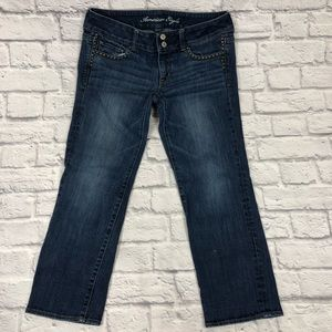 American Eagle crop jeans. Artist style.  Size 10.